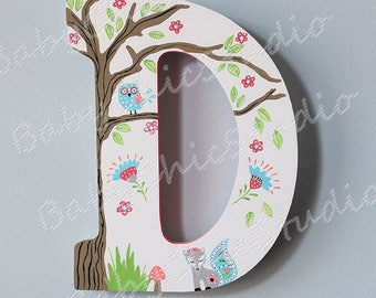 Personalized wooden letter to coordinate with Levtex Baby Fiona nursery theme