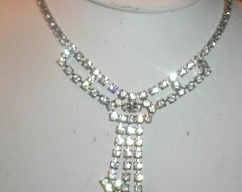 1950's Vintage Rhinestone Necklace