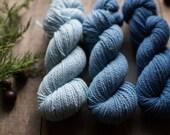 Indigo Gradient Sport Weight Wool Yarn