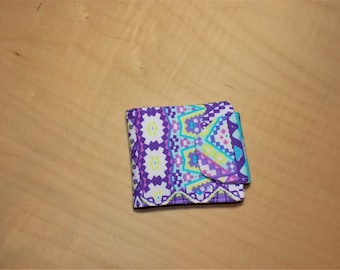 Multi-color womens wallet