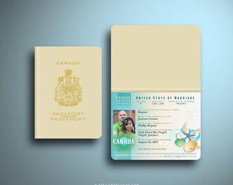 JEANETTE Passport Destination Wedding Invitation
