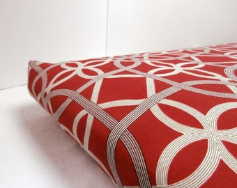 Dog Bed Cover  Crate Indoor/ Outdoor Crimson/Gold/Bark 19 x 30