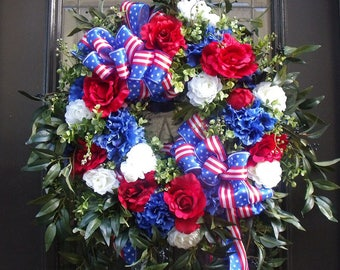 Memorial Day Wreath, 4th of July Wreath, Patriotic Wreath, July 4th Wreath, 4th of July Decorations, Door Wreath, Patriotic Decor