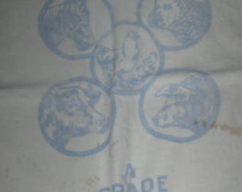 Vintage Miller Salt Seed Feed Bag Sack Feedsack Chickens Cow Pig Horse