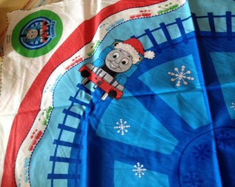 Thomas Train Christmas tree skirt or giant stocking fabric panel by VIP