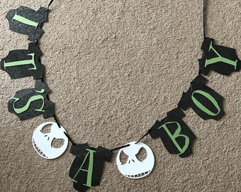 Nightmare before christmas baby shower banner