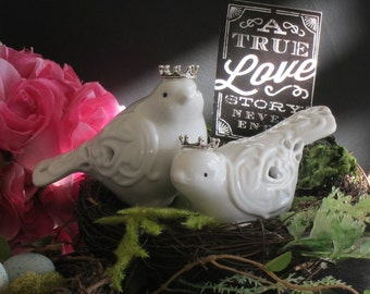 Love Birds Cake Topper Cake Topper Wedding Cake Topper Crown Bird Cake Topper Royal Cake Topper