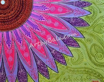 Summer Crush - Henna style Floral Painting