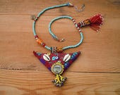 tribal necklace, triangle