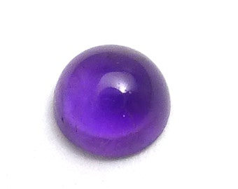 5mm Amethyst Cabochon Domed Round Perfect for Stacking Rings Brazil Purple Royal Earrings Designer Jewelry Bezel Calibrated Lavender Violet