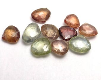 Fancy Sapphire Bead Onion Briolette Hand Faceted Natural Gemstone 10 Beads Onion Tear drop Briolette Perfect for necklace