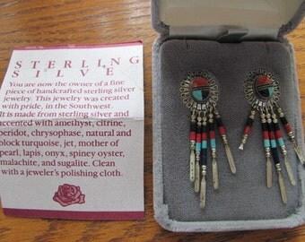 Vintage Sterling Silver Southwest Earrings