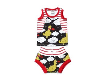 Baby Tank Top and Shorts Set - Baby Boy Outfit  - Baby Shorts - Shorties - Bloomers - Baby Tank Top Shirt - Dragons