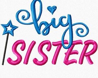 Big Sister Embroidery Machine Applique Design 03232017