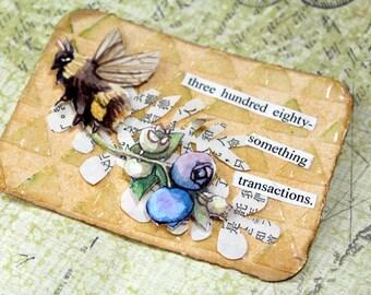 ACEO Original Bumblebee Art - Transaction