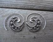 earring handmade in sterling silver