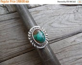 ON SALE Turquoise ring handmade in sterling silver 925 with a beautiful natural turquoise stone from the Royston mine