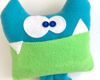 Tooth Fairy Pillow, Soft Stuffed Monster, Sherman The Tooth Fairy Critter, Soft Monster Plush, Tooth Pillow, Tooth Chart, Keepsake Pillow