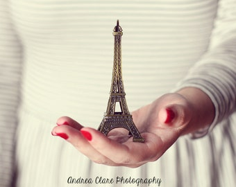 Eiffel Tower Photograph, Fine art Photography, Photo, France, French, Surreal, Portrait, Architecture, Hand, Woman, Print, wall decor, home