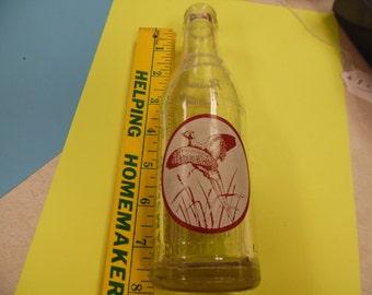 Pheasant pop bottle, Pheasant soda bottle, vintage pop bottle, vintage soda bottle, old bottle, vintage bottle