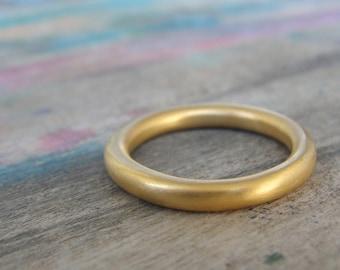 Basic Wedding Band , Full Round Wedding Band , Plain Gold Band , Simple Wedding Ring , Classic Wedding Band , Wedding Ring Stacking Band