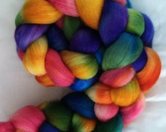 "BFL Combed Top 4Oz.  ""Rainbow Spots"""