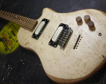 Birdseye Maple and Reclaimed Floor Joist Guitar