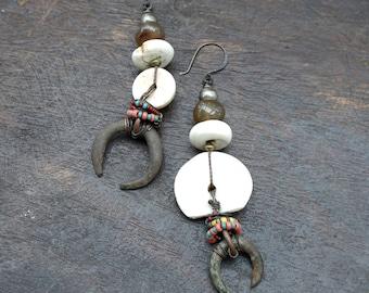 Fierce Warrior Woman - Statement Earrings