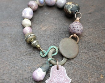 Mauve Thoughts - Artisan Bracelet -