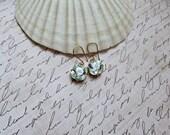Light Azore Swarovski Cushion Cut earrings, Boutique Style earrings