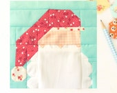 Dear Santa Quilt Block PDF Instant Download Quilt Pattern 6 inch and 12 inch block Instructions Santa Clause