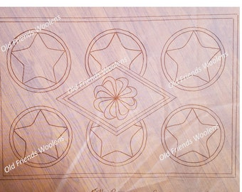 NEW PATTERN*** Stars and Diamond Hooked Rug Pattern