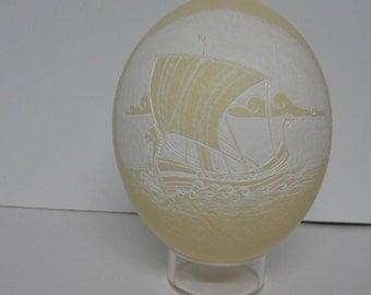 Viking Ship Ostrich Egg