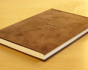 Journal - Brown Suede Cloth