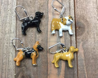 Dog Earrings, Bulldog Earrings, German Sheppard Earrings, Golden Labrador Earrings, Black Labrador Earrings, Dog Jewlery, Black Lab, Golden