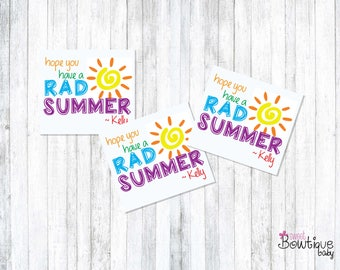 Hope have a RAD SUMMER! Summer printable tags