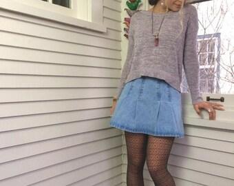 SALE Vintage denim SKIRT,size 5, vintage skirt, mini skirt, hipster skirt,  stonewash denim mini skirt, tennis skirt,hippy skirt,fino skirt