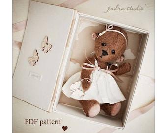 Teddy Bear Pattern Mona by Pudra Studio 30 cm ePattern Instant Download PDF Pattern Artist Teddy Bear pattern