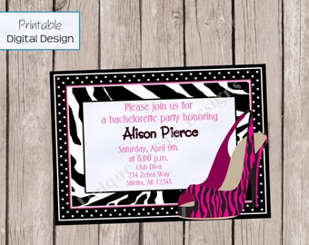 Steppin' Out Party Invitation Style DI2101 DIGITAL FILE - Printable