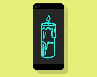 New! - DRIPPING CANDLE VINYL Decal, Ritual Cellphone Decal, Illustrated Decal, Phone Decal, Vinyl Sticker