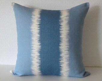 Thom Filicia Ikat Stripes Designer Throw Lumbar Pillow Cover