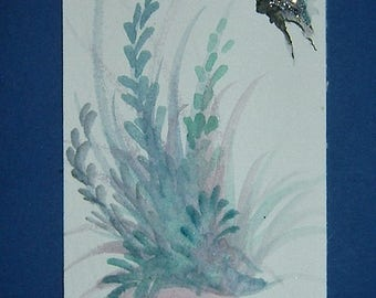 aceo miniature art watercolour fantasy painting (ref 472)