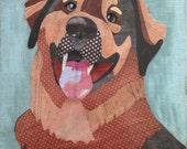 Custom Pet Portrait - Hand-Cut Paper Collage