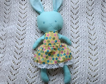 SALE*** Blue girl bunny plush softie softy