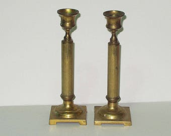Vintage Brass Candle Holders Candlestick Pair Candle StickRetro 70s 80s Home Decor 4175