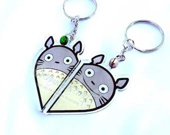 Cute friendship my neighbour totoro charm keychain set