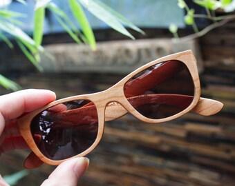 Black Friday ON SALE American Cherry Wood Walker Handmade Wooden Takemoto Brown Sunglasses