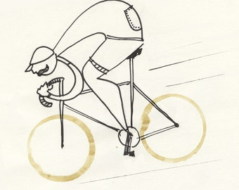 Illustration - Coffeedoodle No. 13 - Cycling