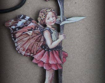 Zinnia Fairy Needle Minder with double magnet by cheswickcompany