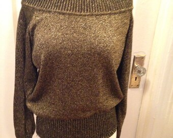 Variegated Matalic sweater made in Italy medium